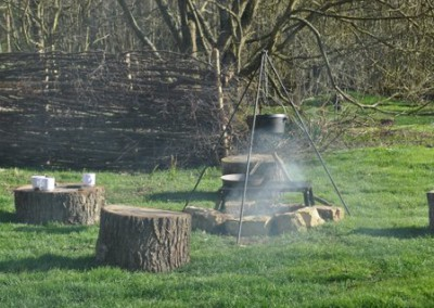 bell tent fire pit